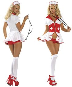 484c8d553c5c White Red Pin Up Nurse Costume Sexy Nurse Costume, Nursing Clothes,  Beautiful Lingerie,