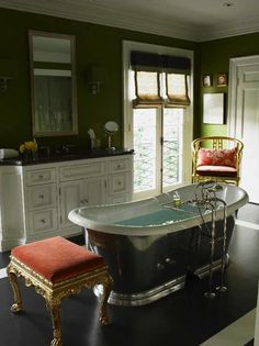 elegant-decorating-bath-toilet-room-gilded-bench-eclectic-home-decor-ideas-MaryMcDonald