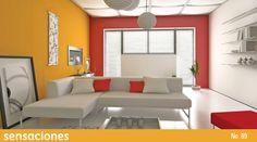 Si eliges colores contrastantes para decorar tus habitaciones, asegúrate de dejar el más oscuro al fondo para crear un efecto de profundidad. Encuentra más consejos en nuestra Revista Sensaciones: http://www.comex.com.mx/sensaciones_online