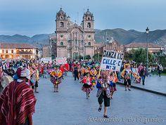 Plaza de Armas, Holy Week Parade, Cusco, Peru