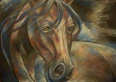 """Malarstwo, rzeźba i rysunek Maji Bielawskiej: """"KONIE""""(Horses portraits)- grudzień 2016 - pastel ..."""