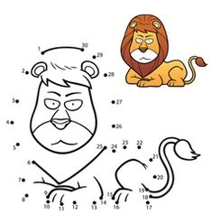 Royalty-Free Vector Images by sararoom (over - Page 4 Cool Coloring Pages, Animal Coloring Pages, Free Coloring, Educational Games For Preschoolers, Cartoon Expression, Dots Game, Learning English For Kids, Numbers For Kids, Number Games