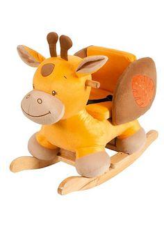 Neuer bester Freund im Kinderzimmer: Die Schaukeltier-Giraffe. Diese und weitere Schaukeltiere findet Ihr auf unserem Blog.