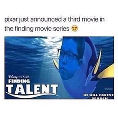 The best Jacob Sartorius meme yet! Finding Dory = Finding Talent. He will forever search