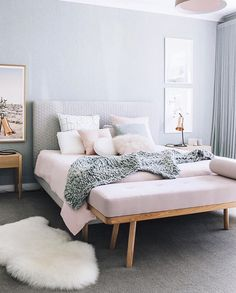 Our blush button cushion in the home of Courtney McCann styling and photography by @oheightohnine