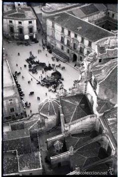 MURCIA 1951. NEGATIVO FOTOGRÁFICO B/N, 6x9 CM. ORIGINAL. INEDITO. PERFECTO. - Foto 1 Murcia, Past, Louvre, Country, Building, Santa Maria, Travel, Ideas Para, Antique