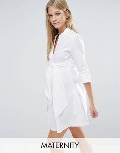 Isabella Oliver Longline Shirt Dress With Tie Waist