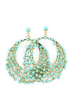 Raileen Statement Earrings in Turquoise on Emma Stine Limited I like her stuff!