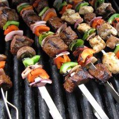 Grilled Sirloin Steak Kebabs