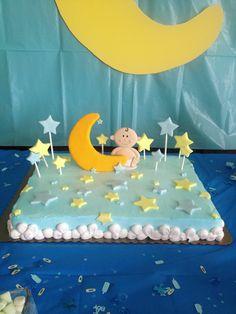 Moon and Stars Baby Shower Cake