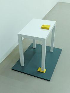"»kritik der reinen vernunft – kritik der praktischen vernunft« by timm ulrichs (+) ""wooden table with two books: immanuel kant's ""critique of pure reason"" and ""critique of practical reason"" "" [via]"
