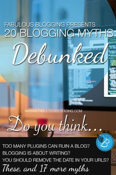 Great article about blogging myths. #20 stuck a chord for me! I need to loosen the purse strings and stop driving myself craaaazy trying to do all the hard stuff myself!