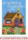 Grandchildren Spoiled Here House Flag Sunflower Garden, Yard Flags, House Flags, Grandchildren, Gingerbread, Fun, Crafts, Decor, Manualidades