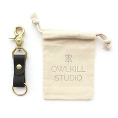 Leather and Brass Key Fob by OwlkillStudio on Etsy. I purchased one from another source 10 years ago. This key fob really is a simple, useful everyday thing that feels a lil lux.