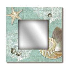 Nautilus and Shells Aqua Mirror