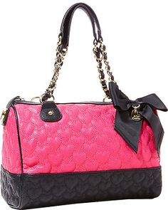 WILL YOU BE MINE SATCHEL PINK accessories handbags non leather satchels