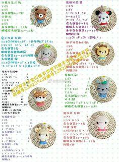 19 Ideas for crochet keychain doll gifts Crochet Doll Pattern, Crochet Chart, Crochet Patterns Amigurumi, Crochet Dolls, Crochet Stitches, Knitting Patterns, Free Crochet, Minis, Kawaii Crochet