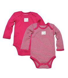 7 Colors Burt/'s Bees Baby Set of 2 Bee Essentials Long Sleeve Bodysuits