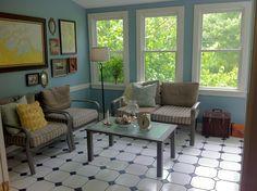 Sunroom-color of walls vs. all windows
