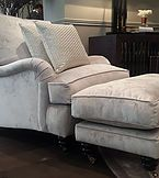 Beaufort Interiors luxury velvet sofa range and comfortable chairs from exclusive interiors. Interior Design services offer sofa fabric of your choice.