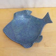 Fish dish serving bowl plate handmade stoneware pottery
