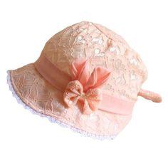 54a2d2d57ba Spring Cap Summer Sweet Princess Hollow Baby Girls Hat Lace-up Beanie Cotton  Bonnet Enfant Kids Flower Beanie Lace Floral Cap