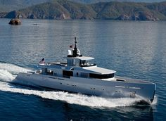 Alyssa 38.75m.  Turkish yard Tansu Yachts specialises in the design and build of custom yachts and is led by yacht designer Riza Tansu, who trained as an industrial designer. Tansu Yachts are easily recognisable for their spartan, often militaristic exterior styling that puts a focus on function with vast outdoor deck spaces.   #YachtNews