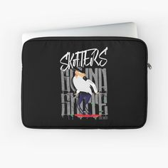 'Skaters Gonna Skate' Laptop Sleeve by EddieBalevo Laptop Cases, Phone Cases, Wall Tapestries, Tapestry, Throw Blankets, Throw Pillows, Level Up, Back To Black, Shower Curtains