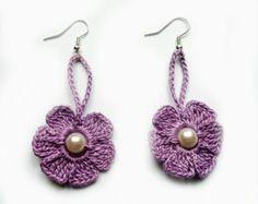crochet earrings -