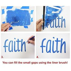 Cutting Edge Stencils - Faith Wall Quote Stencil. $10.95. See more wall quotes Stencils: http://www.cuttingedgestencils.com/wall-quotes-stencils-quotes-for-walls.html  #quotes #wall #painting #stenciling