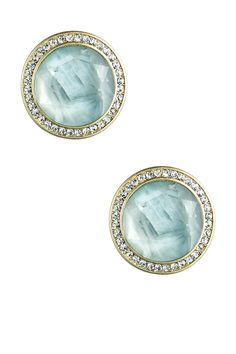 Lily Green Flourite Stud Earrings