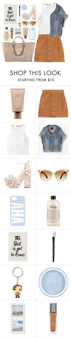 """Untitled #300"" by ino-6283 ❤ liked on Polyvore featuring tarte, Emilio Pucci, Rebecca Taylor, R13, Christian Louboutin, Chanel, Tom Ford, Heisel, philosophy and Pottery Barn"