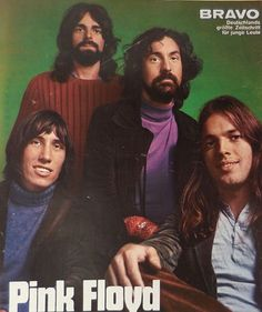 ▲ Pink Floyd, on the back cover of Germany's Bravo Magazine, Issue #17, April 19, 1971. || Desert Lily Vintage