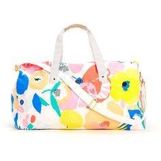 Mega Blooms Duffle Bag - Single Thread Boutique, $54.00 #blooms #flowers #duffle #bag #blue #yellow #orange #white  #vacation #trip #gorgeous #canvas #handles #shoulderstrap #singlethreadbtq #shopstb #boutique