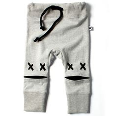 Minti Baby Eyes Trackies - Gry/Blk