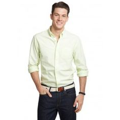 Bonobos 100% Cotton Lime Green Oxford - Made in the U.S.A