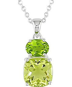 Shop for Miadora Sterling Silver Lemon Quartz and Peridot Necklace. Get free delivery On EVERYTHING* Overstock - Your Online Jewelry Destination! Peridot Jewelry, Peridot Necklace, Peridot Rings, Fine Jewelry, Jewelry Making, Jewellery, My Birthstone, Lemon Quartz, Green Gemstones