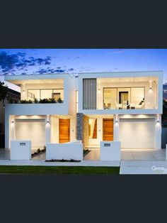 11 Ida Street, Sans Souci, NSW View property details and sold price of 11 Ida Street & other properties in Sans Souci, NSW 2 Storey House Design, Townhouse Designs, Duplex House Design, White Houses, Building Design, Interior Architecture, House Plans, Villa, New Homes