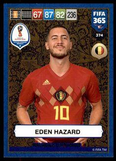 4a3747805 Panini FIFA 365 2019 Adrenalyn XL Hazard Belgium GOLD  World Cup Heroes  No.374