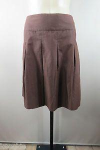 Size XL 16 LIZ Jordan Ladies Cotton Skirt Boho Brown Casual Wear Peat Design | eBay