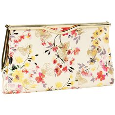 Monsoon Summer Floral Clutch ($20) ❤ liked on Polyvore