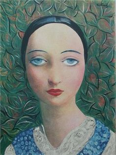 Portrait of a Young Woman, Moise Kisling (1891-1953), oil on canvas.