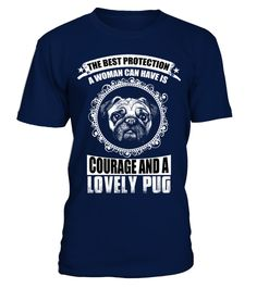 Lovely Pug Pug dog T-shirt