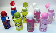 Kids #children character aluminium #sports water juice bottles #canteen 500ml,  View more on the LINK: http://www.zeppy.io/product/gb/2/161174080411/
