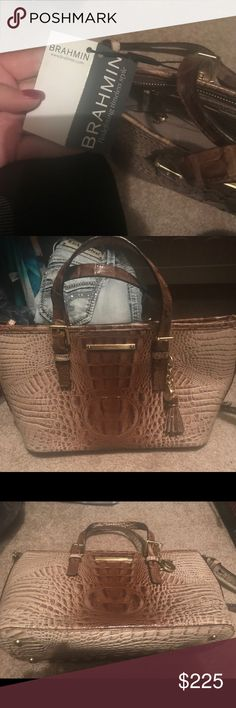 """Brand new Brahmin handbag My husband got me this as a """"push present"""" last year but it's just not my style. So it is brand new. Brahmin Bags Satchels"""