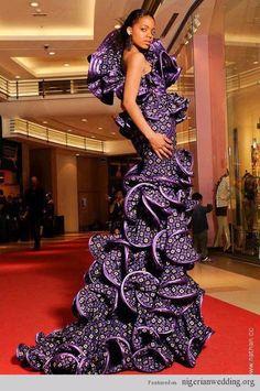 Amazing, African Wedding dress...