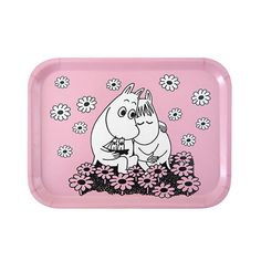 Fall in love with the Moomins all over again with the Moomin Love Pink Small Tray. Moomintroll holds a small sailboat as he snuggles up to Snorkmaiden in a field of flowers; perhaps the two are daydreaming about a romantic adventure at sea. Love <3
