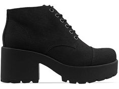 Vagabond Dioon 180 in Black at Solestruck.com  Chunky platform with a lace top, possibly really comfy! looks edgy too.
