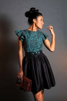 Pyromaniac - AfroBougee - For Proud Africans ~Latest African Fashion, African… African Inspired Fashion, African Print Fashion, Fashion Prints, Love Fashion, Fashion Styles, African Prints, Fashion Design, Fashion Women, African Attire