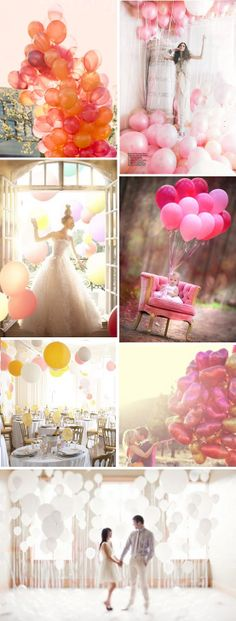 RCP - Now you might be thinking balloons are for kids, not weddings. Well, think again! Abundant amounts of balloons can add a playful element to your wedding day decor, mark the location's entrance, or entertain the kids in their special area. And of course, balloons make for a great bridal photo op!